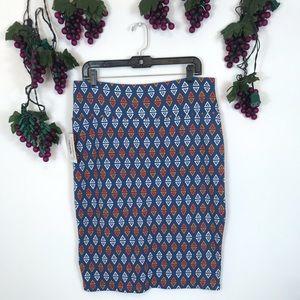 NWT LulaRoe Cassie XL Knee Length Pencil Skirt
